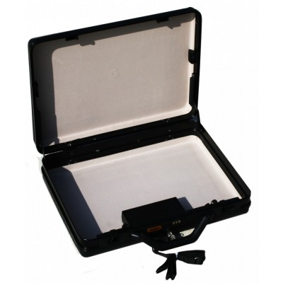 Briefcase with RF Transmitter - Audible smoke and dye